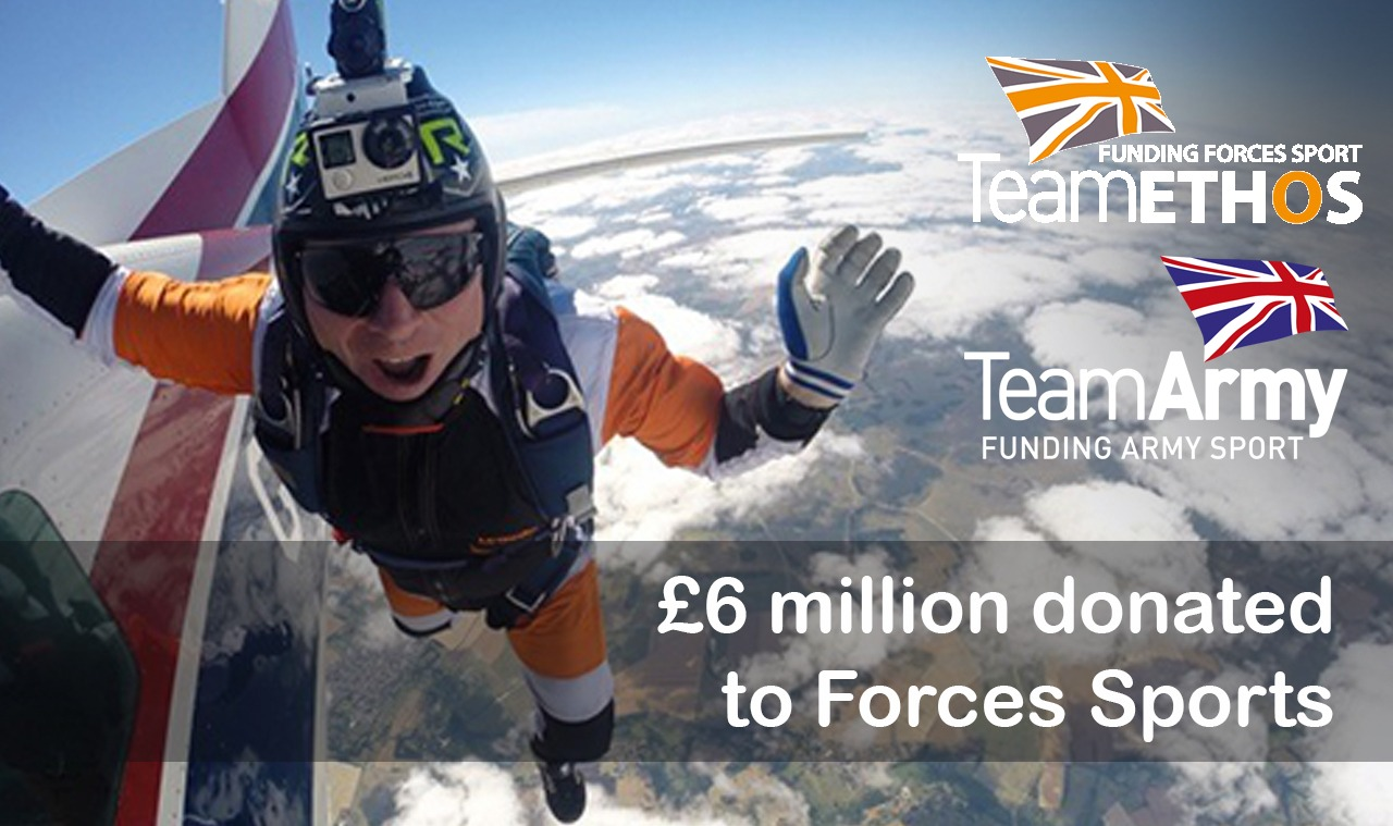 Team Army/Team Ethos celebrate £6m raised for Forces sport!