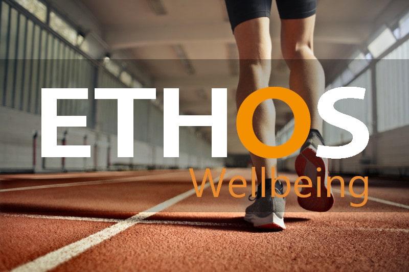 legs of athlete on race track
