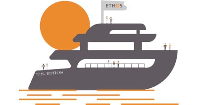 ethos boat with crew